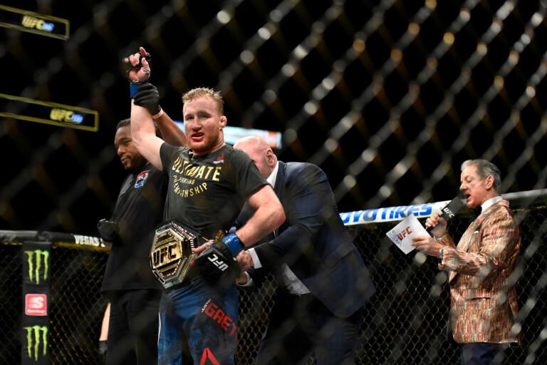Phản ứng của Justin Gaethje khi bị UFC viết sai tên trong quảng cáo