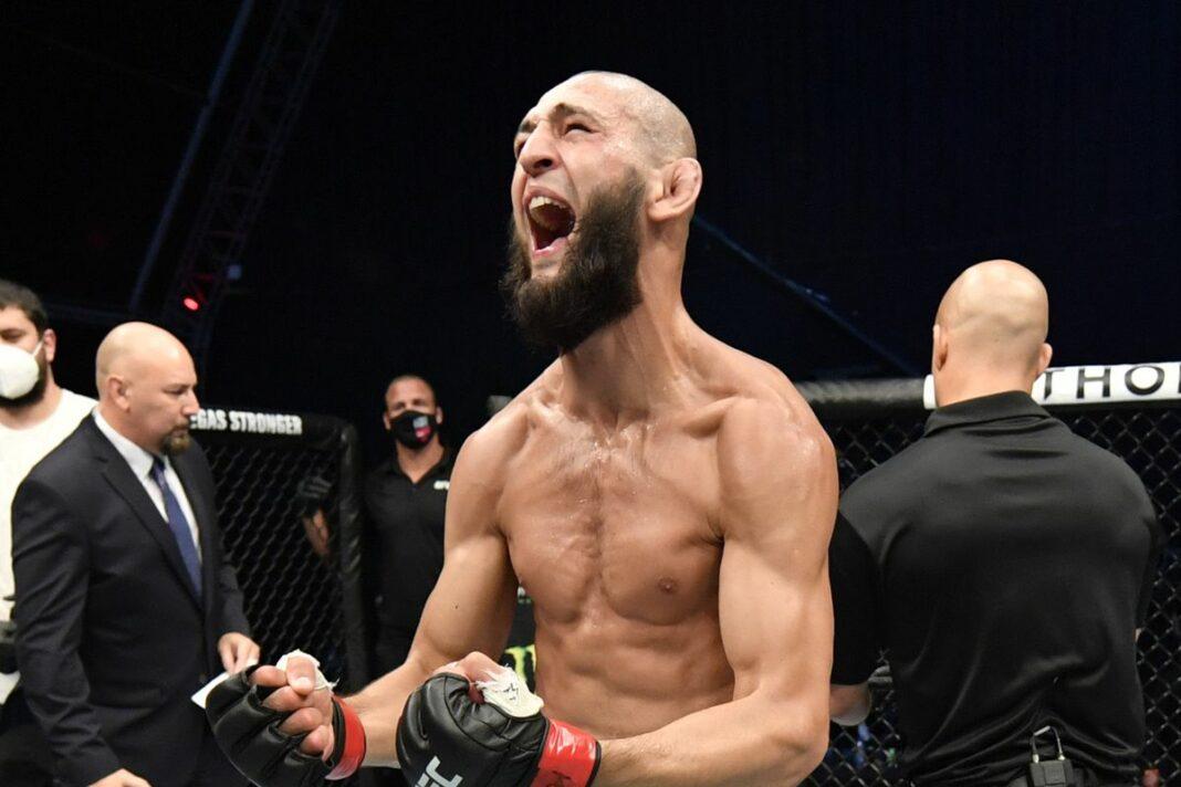 Chỉ sau 1 trận, UFC xếp Khamzat Chimaev vào top 15, Nate Diaz và Dos Anjos văng khỏi bảng xếp hạng