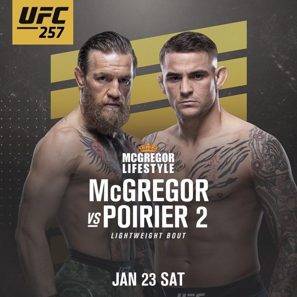 Conor McGregor sắp có màn tái đấu với Dustin Poirier tại UFC 257.
