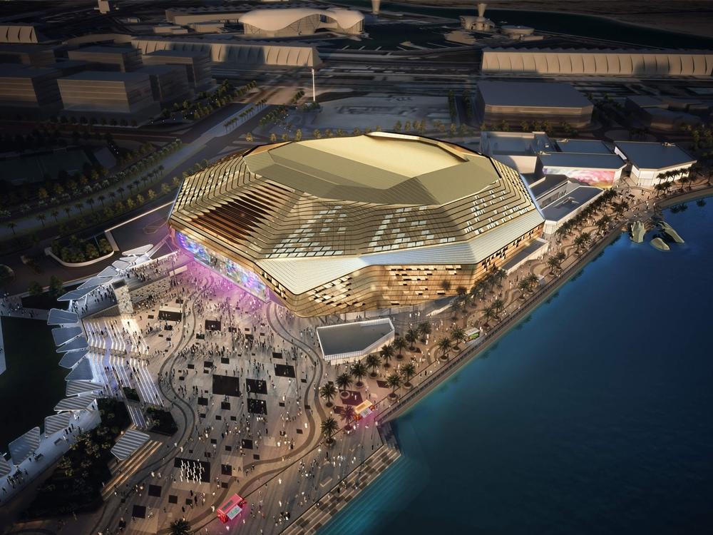 Nhà thi đấu Etihad Arena nơi diễn ra chuỗi sự kiện Fight Island tại Abu Dhabi trong tháng Giêng.