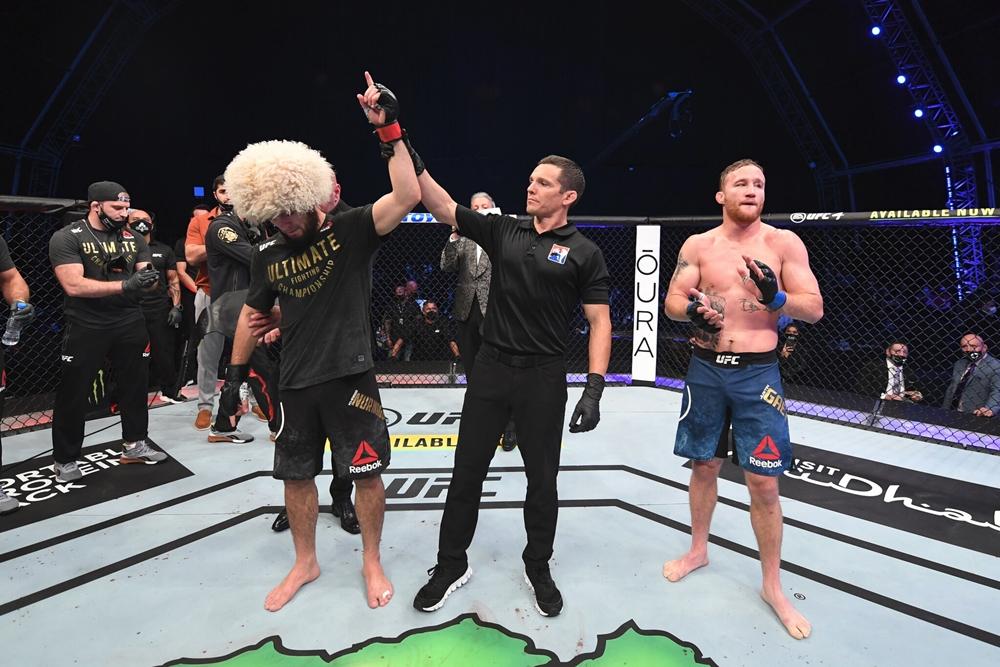 Justin Gaethje thất bại trong trận tranh đai với Khabib Nurmagomedov hồi tháng 10 năm ngoái.