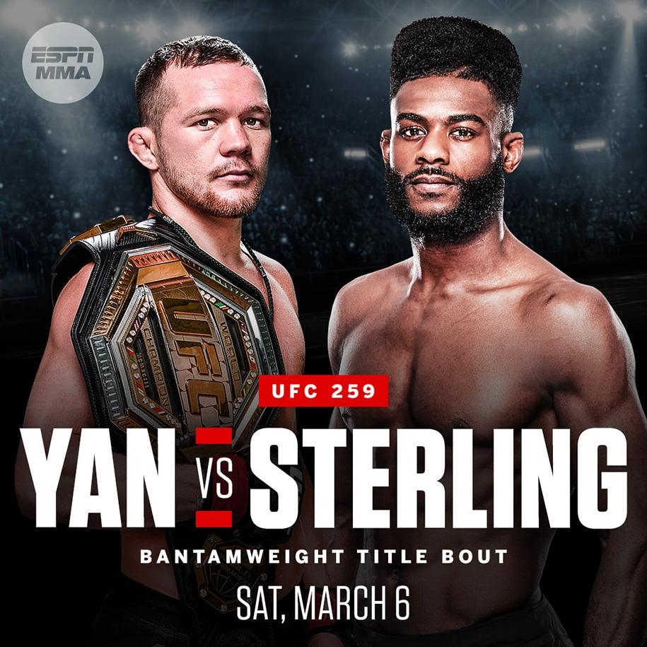 Petr Yan sẽ bảo vệ đai trước kẻ thách thức Aljamain Sterling.