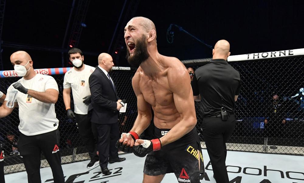 Khamzat Chimaev vẫn đang giữ thành tích toàn thắng kể từ khi thi đấu MMA chuyên nghiệp.