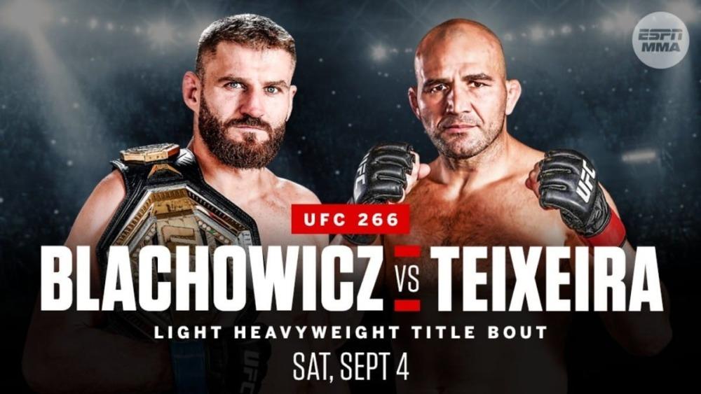 Jan Blachowicz sẽ bảo vệ đai trước kẻ thách thức Glover Teixeira tại UFC 266.