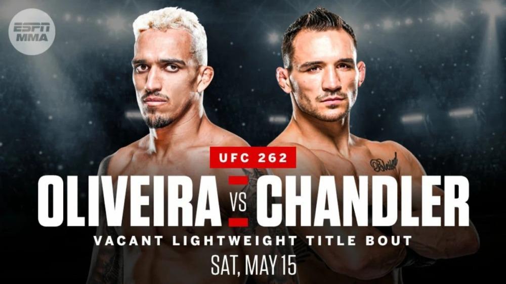 Michael Chandler sẽ đấu với Charles Oliveiratrong cuộc chiến tranh đai hạng nhẹ tại UFC 262.