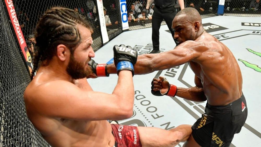 Jorge Masvidal và Kamaru Usman tại UFC 251.