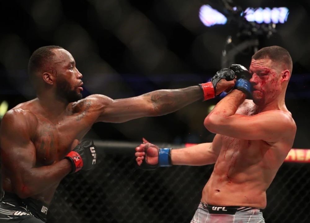 Nate Diaz thua Leon Edwards tại UFC 263.