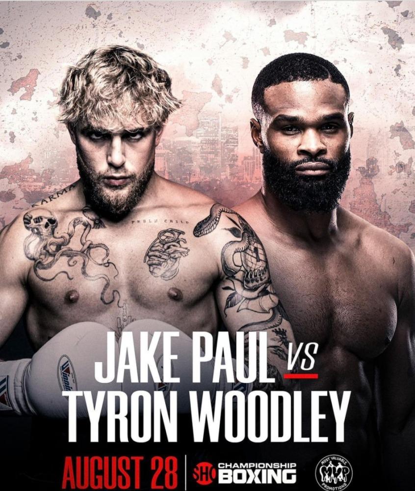Tyron Woodley sẽ đối đầu với Jake Paul trên sàn quyền anh vào tháng 8 tới.
