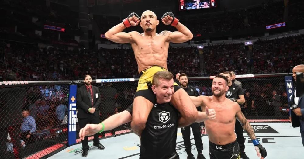 Jose Aldo đánh bại Pedro Munhoz tại UFC 265.