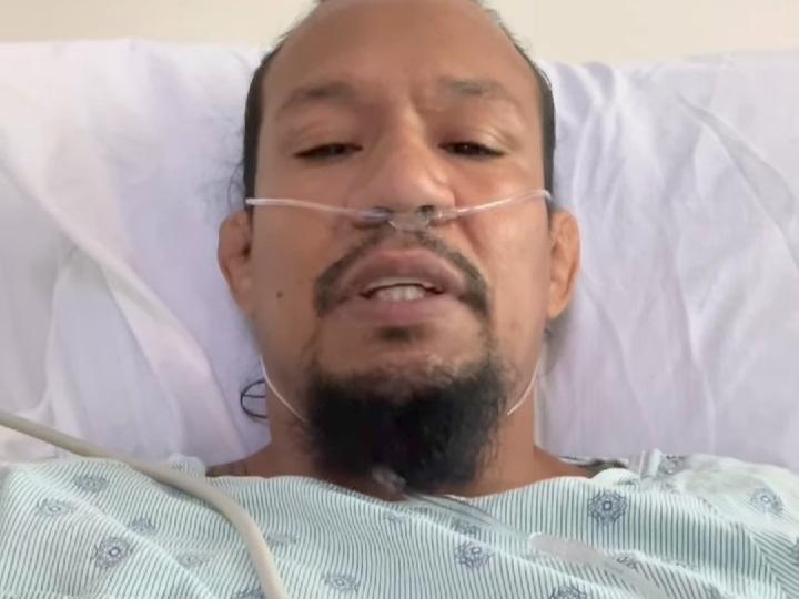 Luis Palomino đang phải chống chọi với COVID-19 trên giường bệnh.