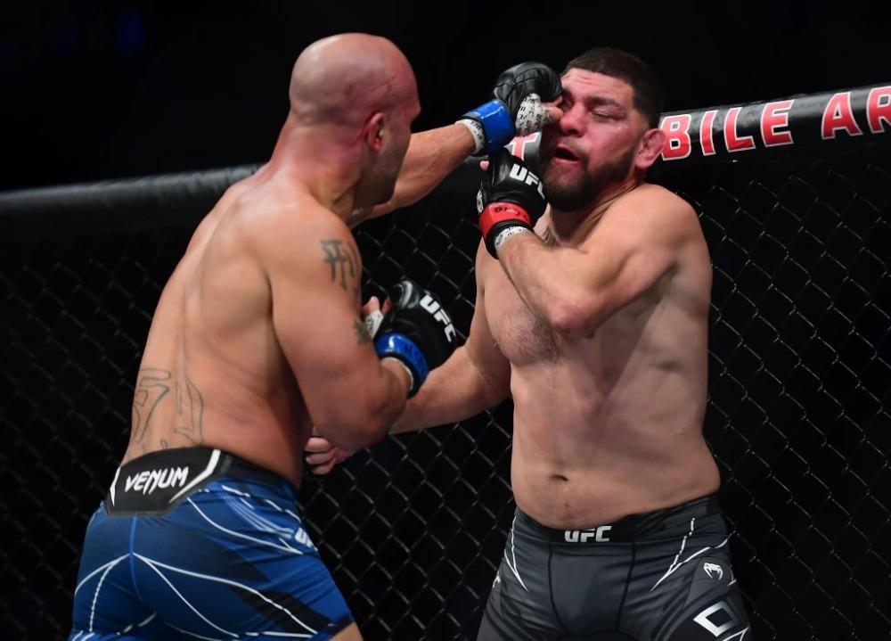 Robbie Lawler và Nick Diaz tại UFC 266.