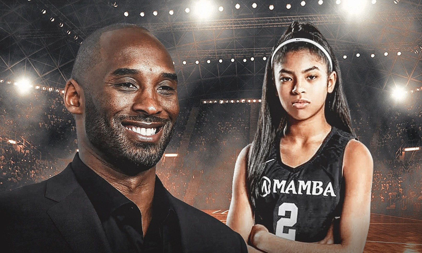 Kobe Bryant và con gái 13 tuổiGianna là 2 trong 9 nạn nhân thiệt mạng.