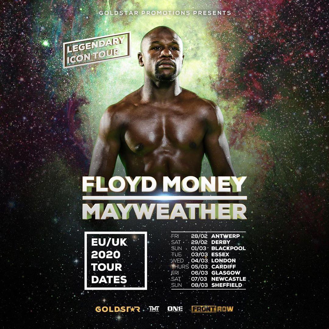 Floyd Mayweather sẽ có chuỗi sự kiện gặp gỡ người hâm mộ tại Vương quốc Anh.