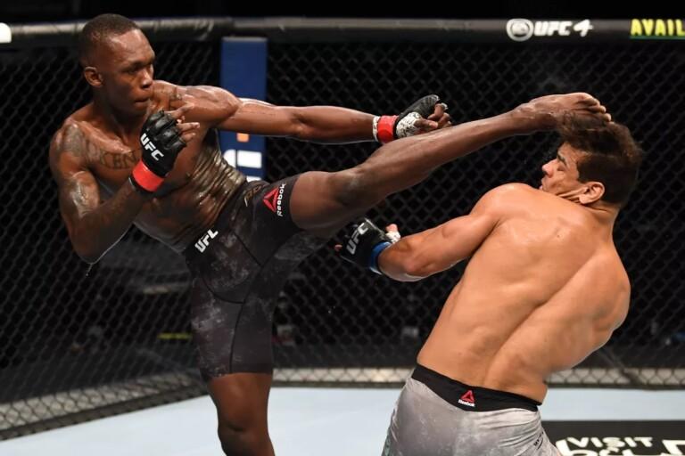 Israel Adesanya hạ knockout Paulo Costa ở cuộc chiến bảo vệ đai hạng trung.
