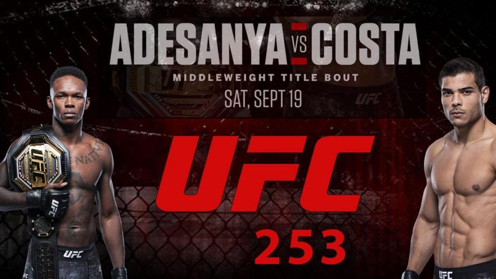 Paulo Costa sẽ đối đầu với Israel Adesanya ở cuộc chiến tranh đai hạng trung tại sự kiện UFC 253.
