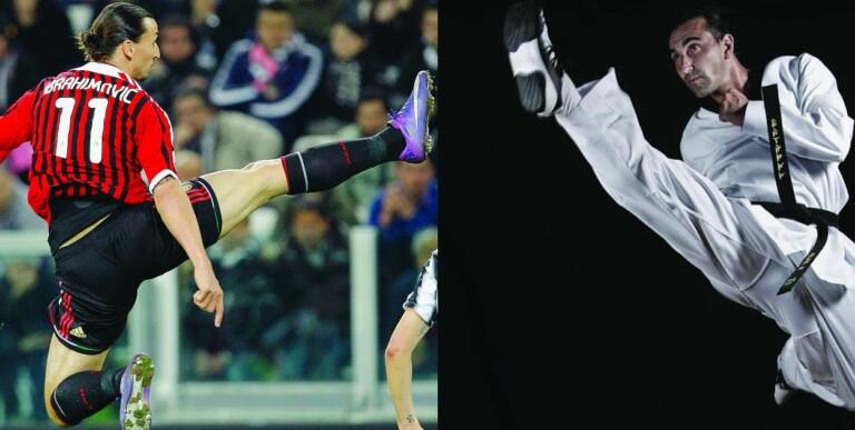 Zlatan Ibrahimovic là tiền đạo có kỹ năng võ thuật đáng gờm.