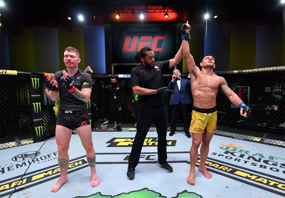 Rafael dos Anjos đã có chiến thắng thuyết phục Paul Felder tại UFC Vegas 14.