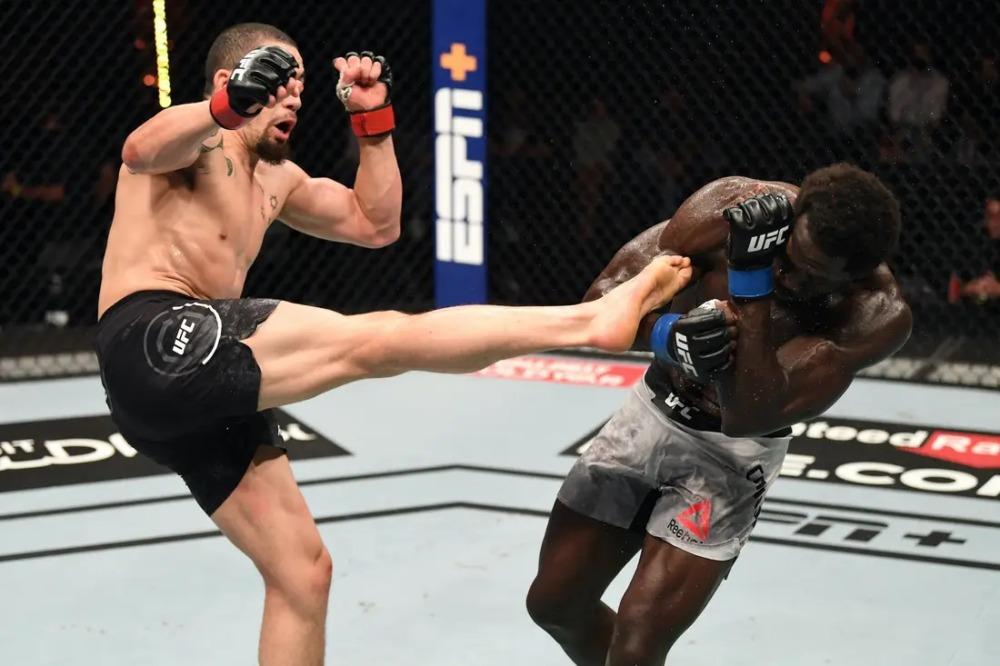 Robert Whittaker đánh bại Jared Cannonier tại UFC 254.